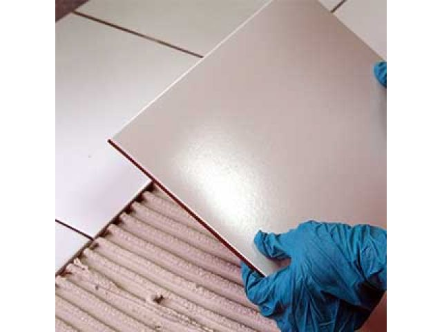 Tiling with underfloor heating or under tile warming