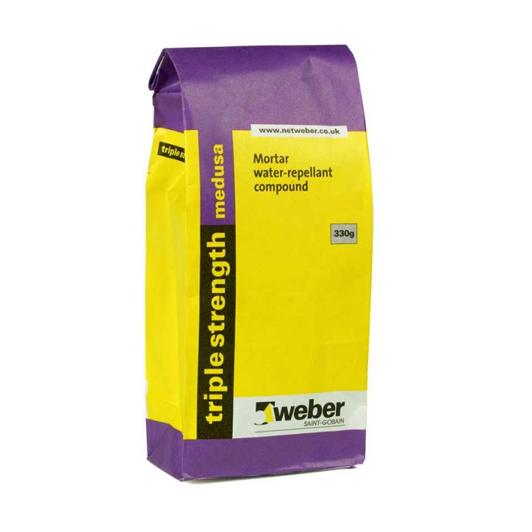 triple strength medusa - admixture for increasing water-repellence of render finishes