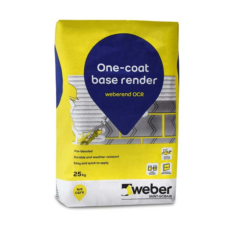 weberend OCR – one coat render for use as a base coat