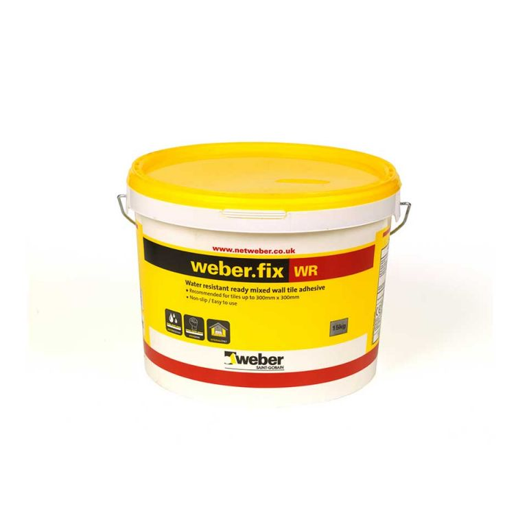 weberfix WR — water-resistant ready made tile adhesive