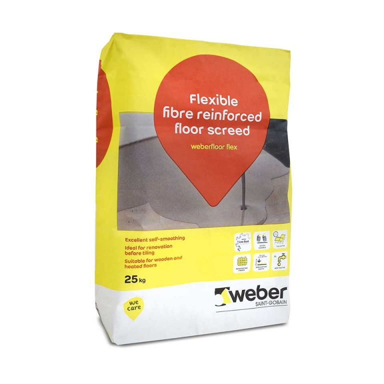 weberfloor flex — fast drying screed and floor levelling screed