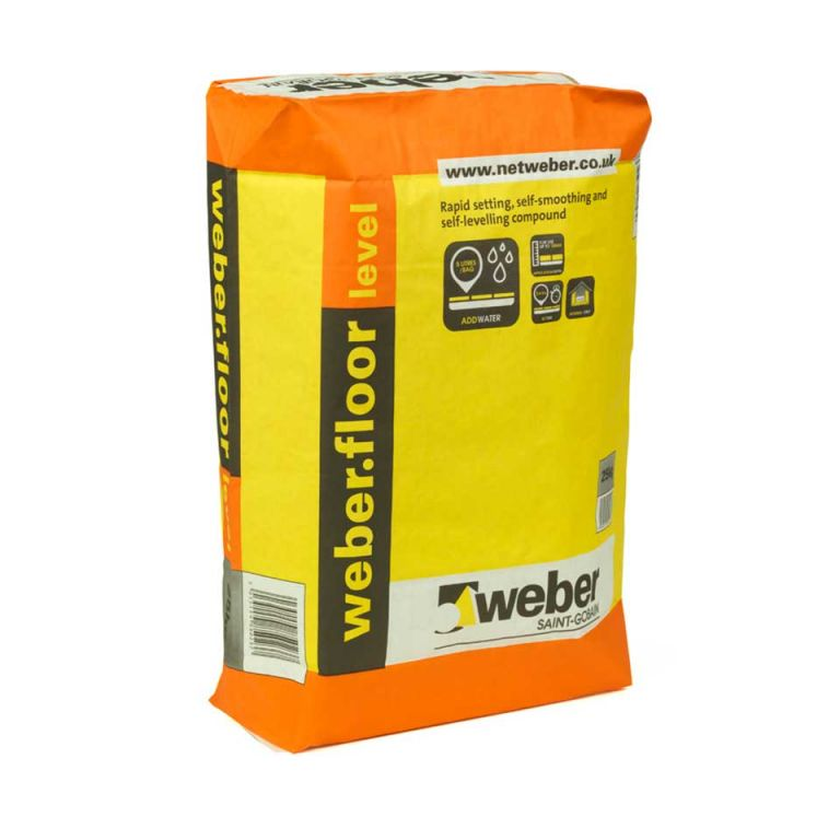 weberfloor level — fast drying screed and floor levelling screed