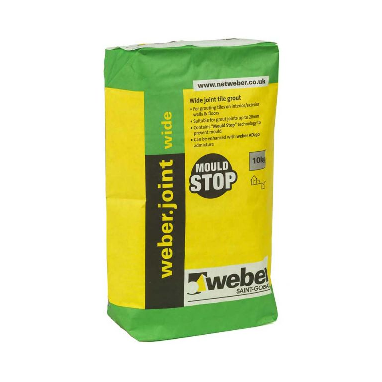 weberjoint wide — wide joint tile grout for walls & floors