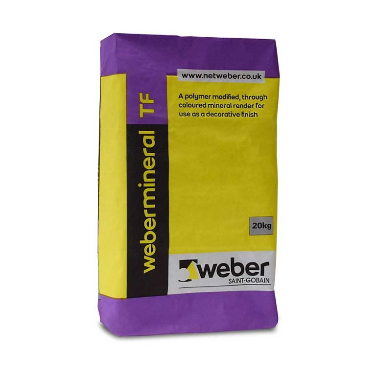 webermineral TF — winter render suitable for application in temperatures as low as 1°C