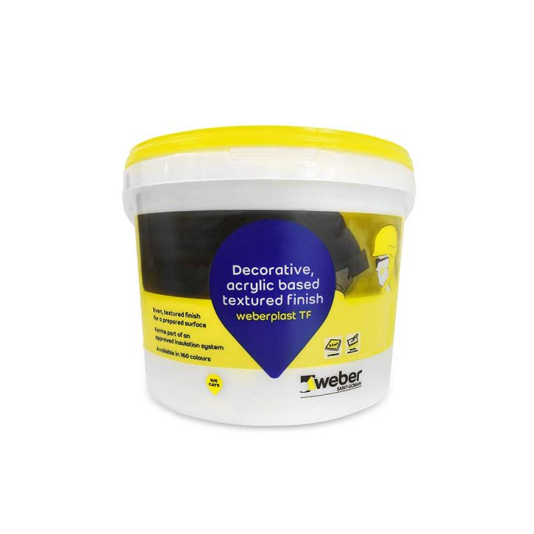 weberplast TF — acrylic render mix for external walls
