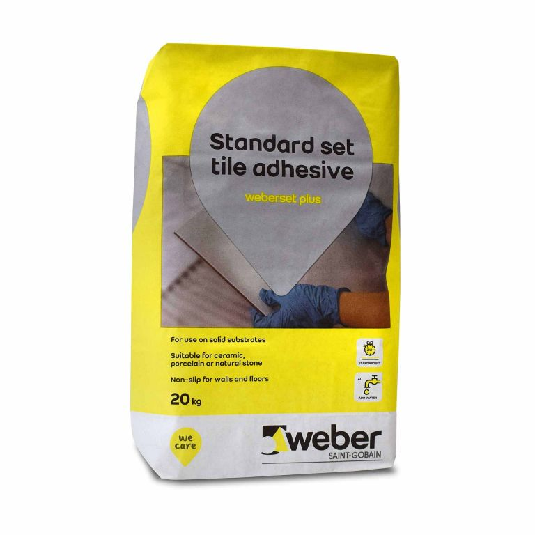 weberset plus — wall and floor powder tile adhesive