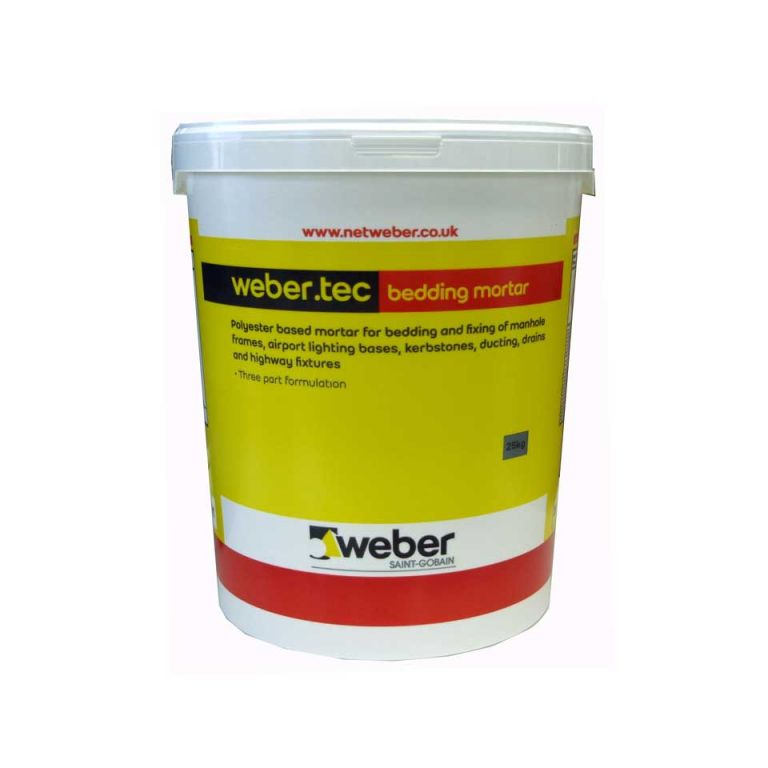 webertec bedding mortar