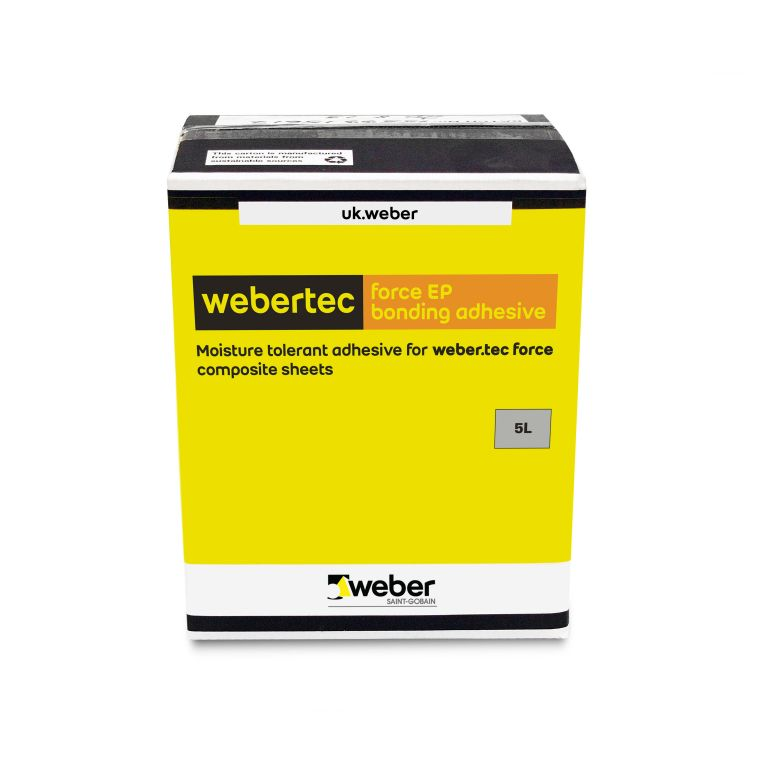 webertec force EP bonding adhesive