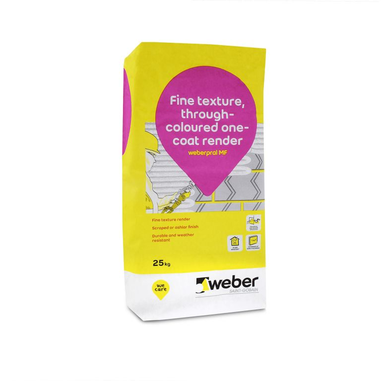 weberpral MF — Weber monocouche render suitable for rendering outside wall