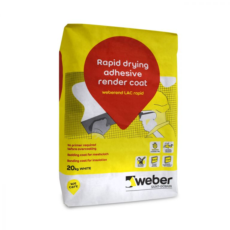 weberend LAC rapid — quick drying basecoat render mix for external walls