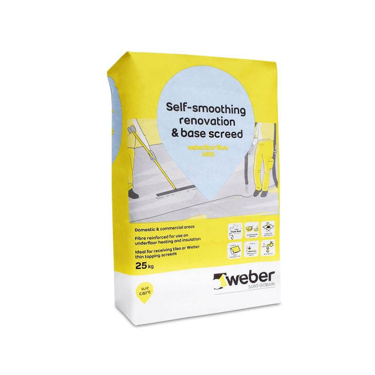 weberfloor fibre 4310 — flexible self levelling compound alternative to a latex floor levelling compound or latex floor screed