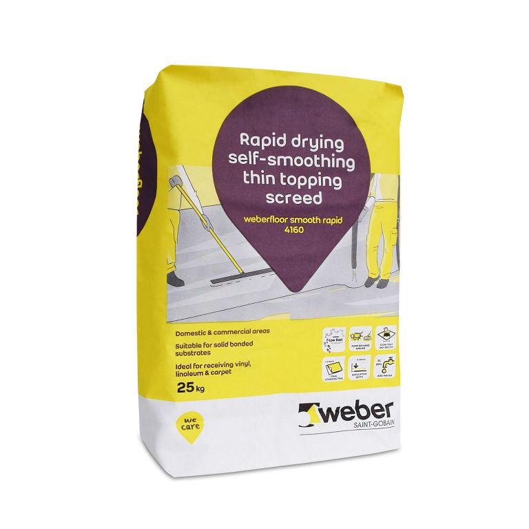 weberfloor smooth rapid 4160 — self levelling floor compound, self levelling floor screed