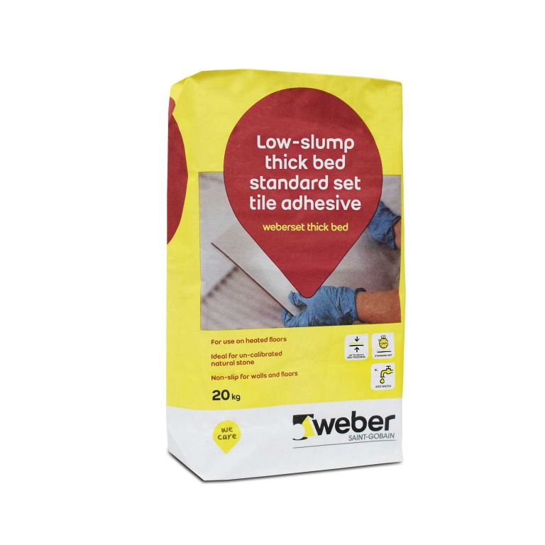 weberset thick bed — thick bed powder tile adhesive